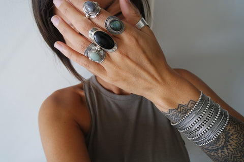 UKIYO Silver jewellery : Silver gemstone rings