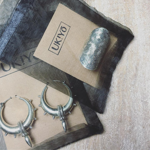 Silver, gold and brass jewellery at Ukiyo