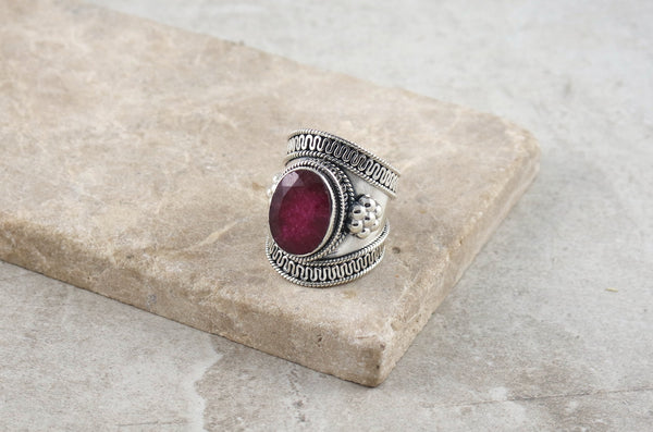 Hirai Red Jasper Silver Ring