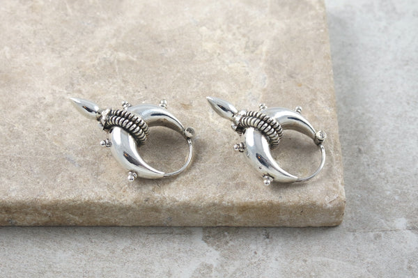 Satomi Mini Silver Spike Earrings