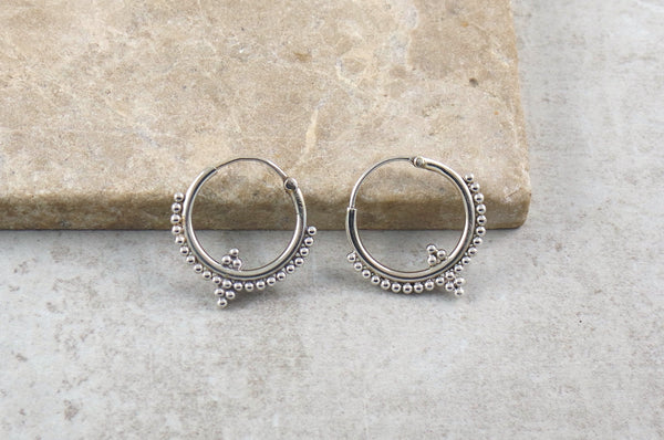 Soja Silver Hoop Earrings