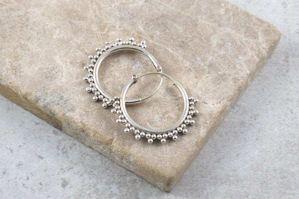 Ataki 2 Silver Hoop Earrings