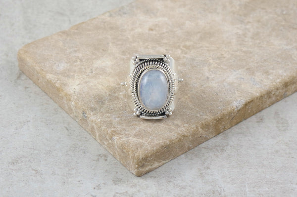 Riko Moonstone Silver Ring