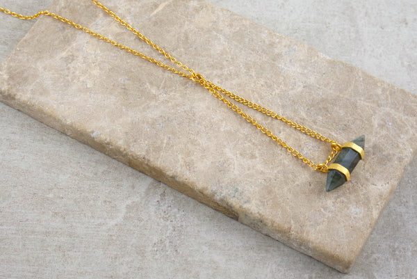 Perlis Labradorite Gold Plated Necklace