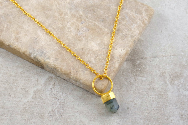 Krai Labradorite Gold Plated Necklace