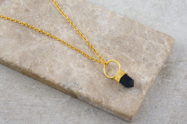 Krai Onyx Gold Plated Necklace