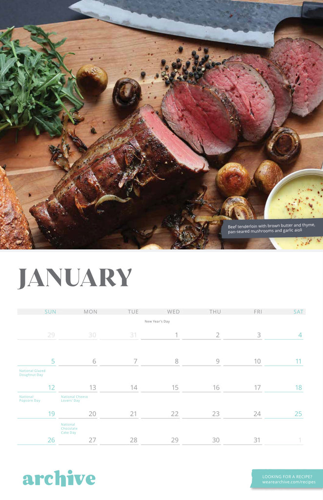 Archive's 2020 Food P*rn Calendar