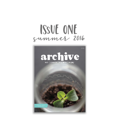 Archive Magazine - Issue 1, Summer 2016