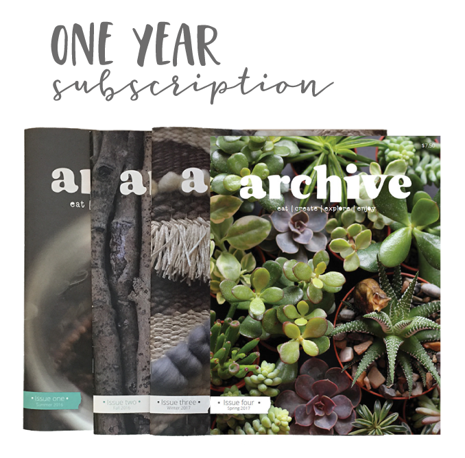 Archive Magazine - ONE YEAR subscription