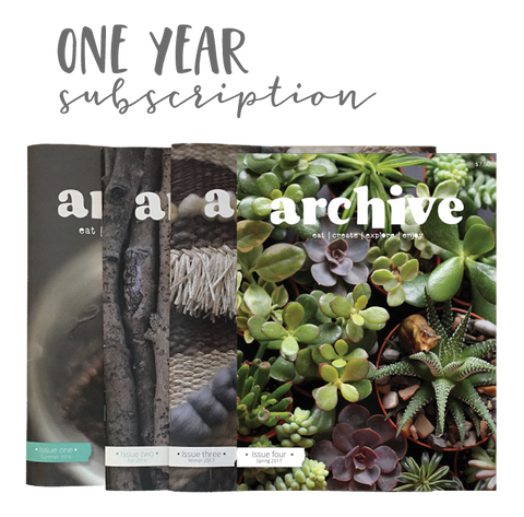Archive Magazine - ONE YEAR subscription - Canadian address