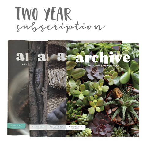 Archive Magazine - TWO YEAR subscription - Canadian address