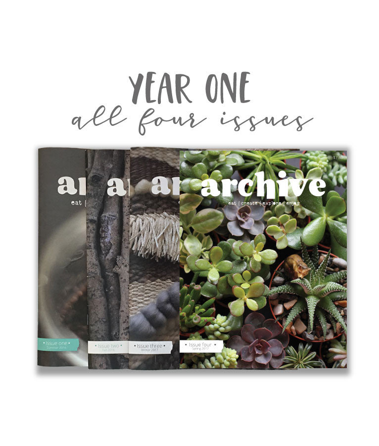 Archive Magazine - Year One - Canadian address