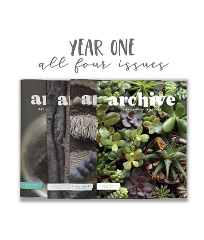 Archive Magazine - Year One (Issues 1-4) - Canadian address