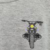 Grey Motorcycle Sweatshirt - Concept Racer