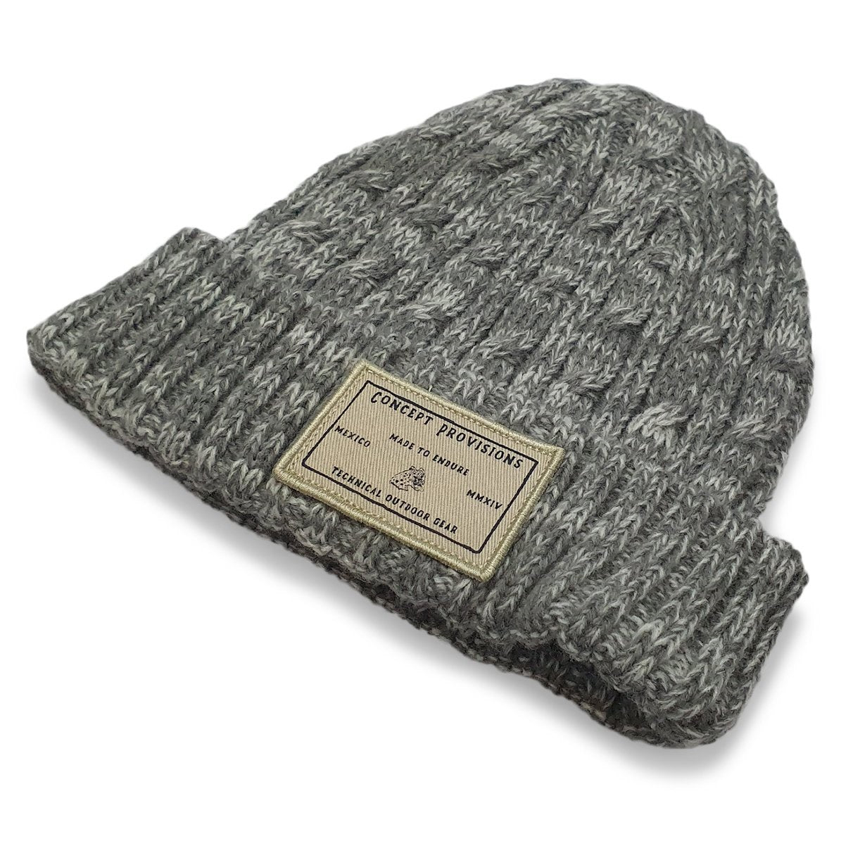 Grey Knit Beanie - Concept Racer