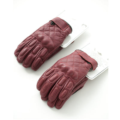 Burgundy Waterproof/Breathable gloves - Concept Racer