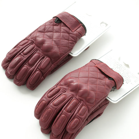 "Guantes Burgundy ""The King of Cool"" Gloves"