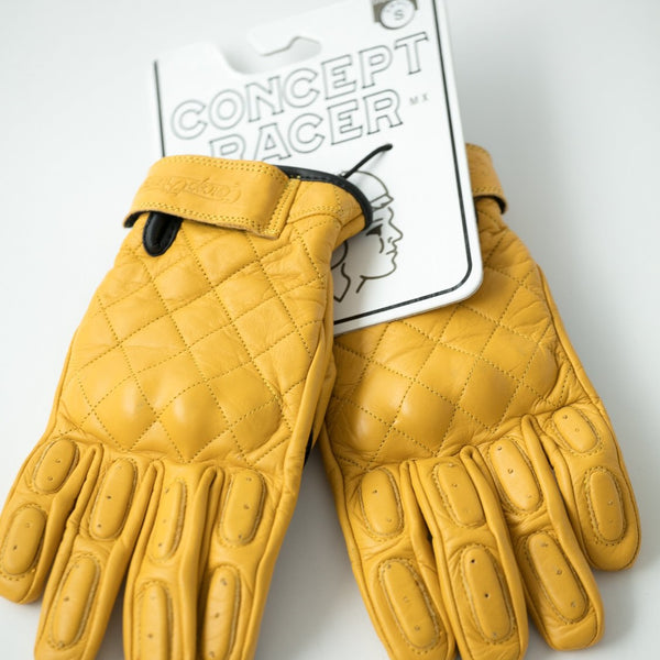 "Guantes Amarillos ""The King of Cool"" Gloves Yellow - Concept Racer"