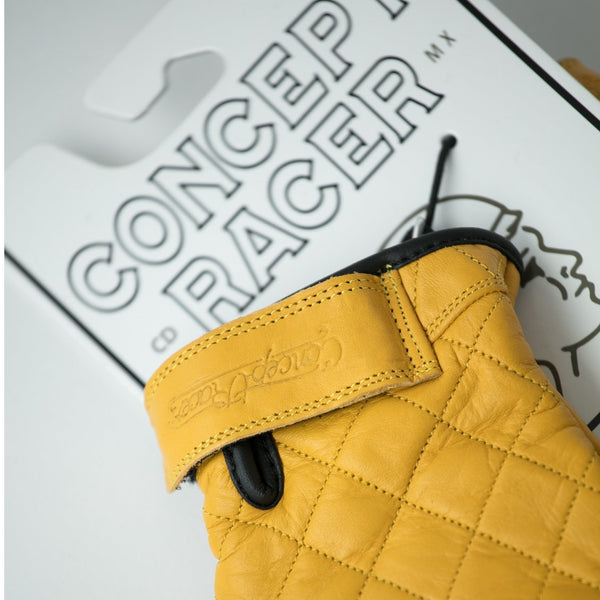 Guantes contra agua y transpirables Amarillos / Gloves (Waterproof/Breathable) Yellow - Concept Racer