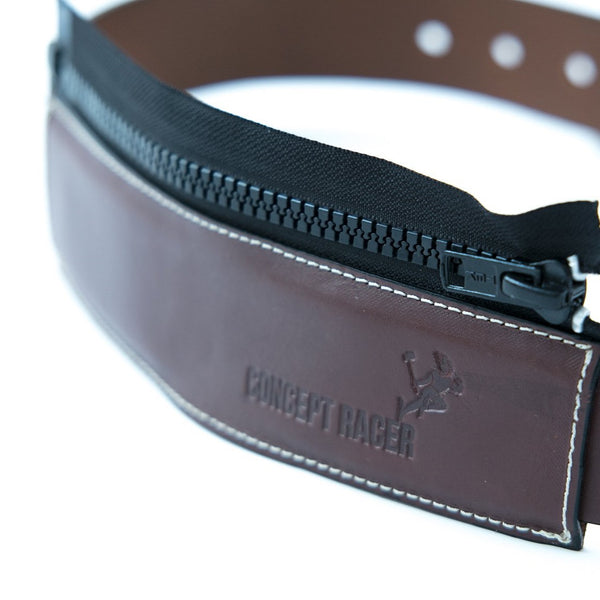Cinturon de piel para moto / Leather Motorcycle Belt - Concept Racer
