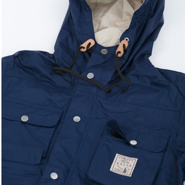 4 pocket Waterproof-Breathable Jacket Navy - Concept Racer