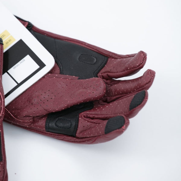 Burgundy Summer Gloves - Concept Racer
