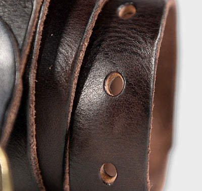 Leather distressed Belt - Concept Racer