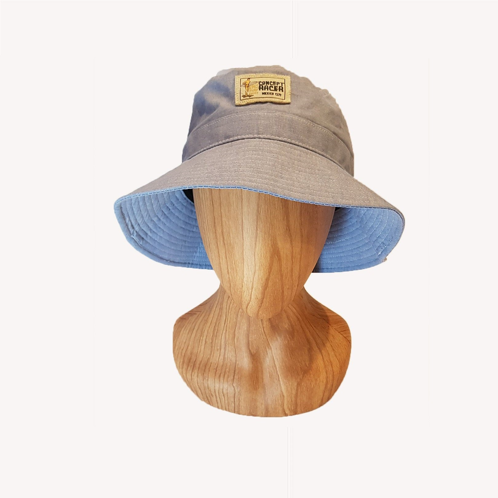 Light Blue canvas Bucket Hat - Concept Racer