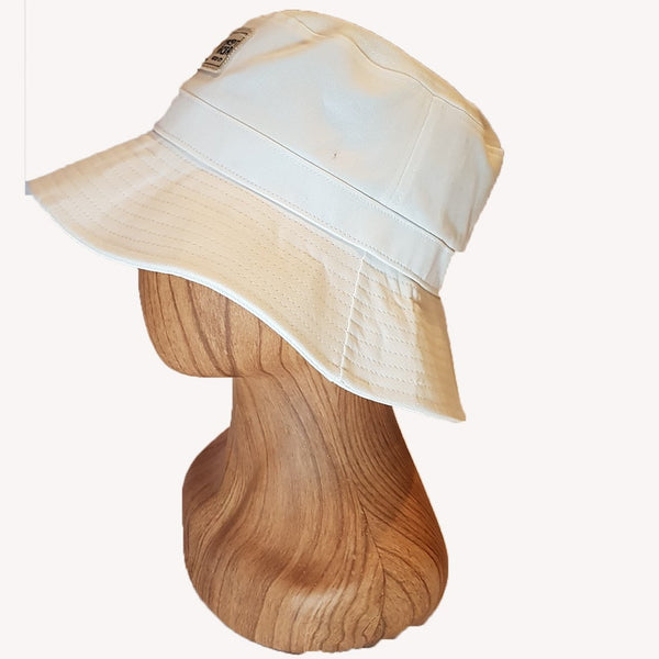 White canvas Bucket Hat - Concept Racer