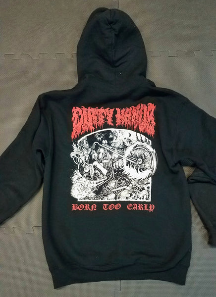 """Born Too Early"" Hoodies"