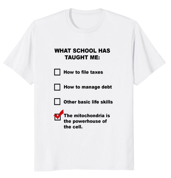What School Has Taught Me T-Shirt