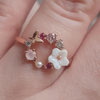 Butterfly Pink Multi-Stone Rose Gold Ring