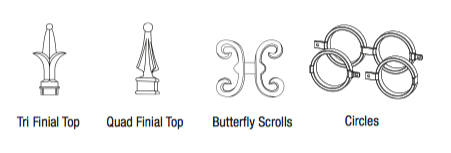 Aluminum Finials & Accessories