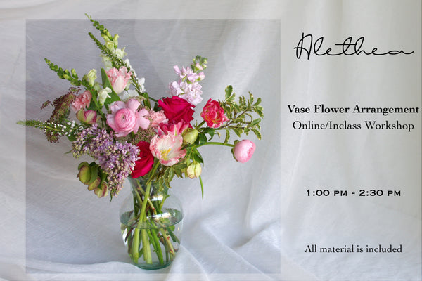 Alethea Vase Flower Arrangement Workshop