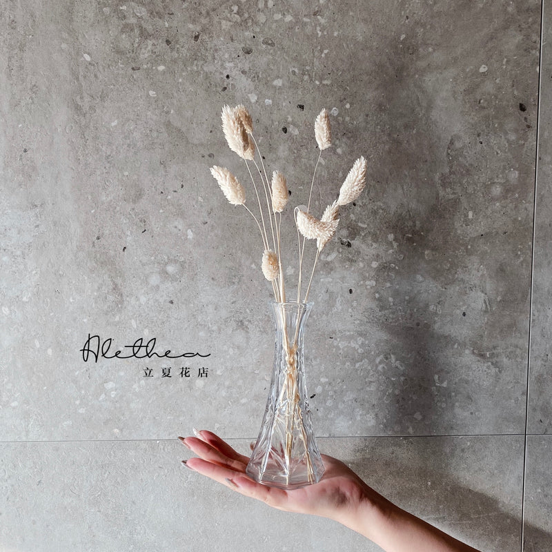 Dried White Phalaris Grass Jar - Dried Flower