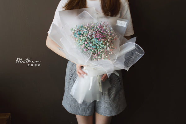 Alethea Rainbow Gypsophila Bouquet Online Workshop