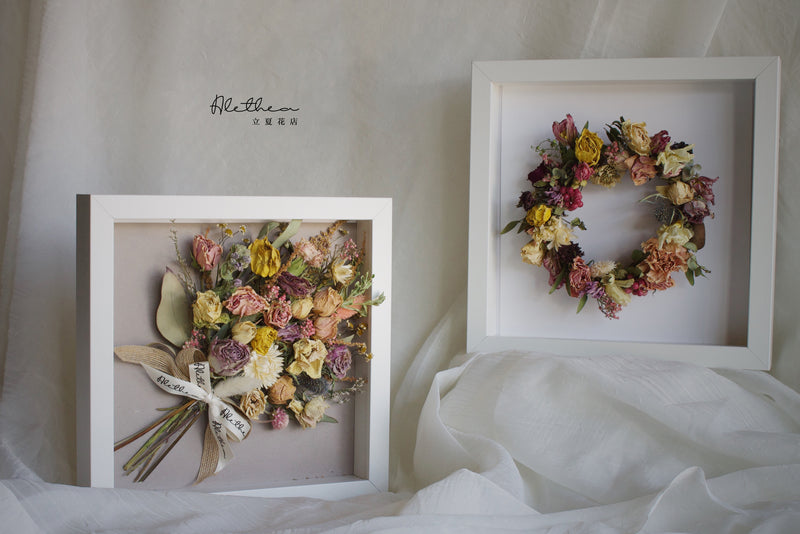Alethea Dried Flower Wreath In Frame Online Workshop