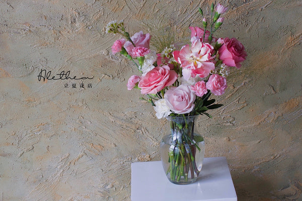 Mother's Vase Arrangement - Light Pink - Mother's Day 2021
