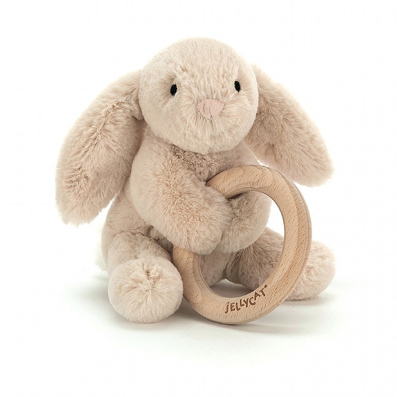 Shooshu Bunny Wooden Ring Toy - Jelly Cat