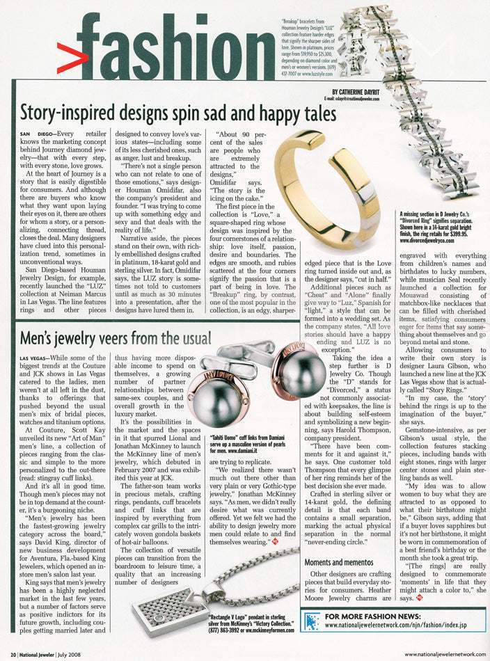 LUZ Jewelry by Houman featured in National Jeweler Magazine