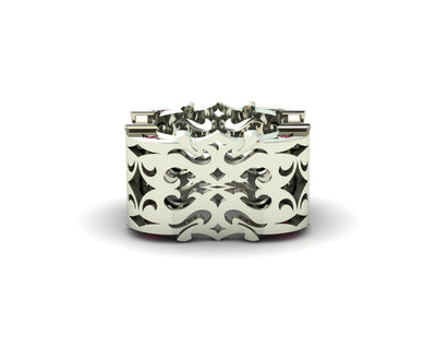 LUZ Anger | Women's ring in 18k white gold - Luz By Houman