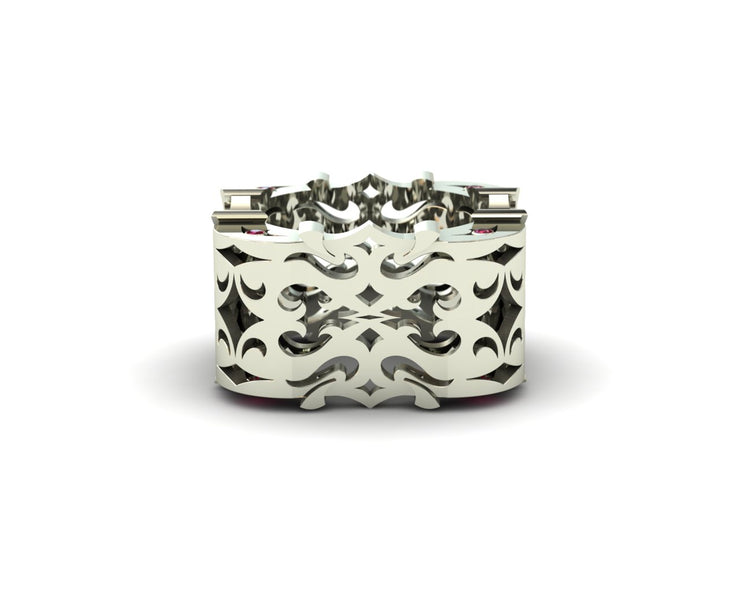 LUZ Anger | Men's ring in 18k white gold - Luz By Houman