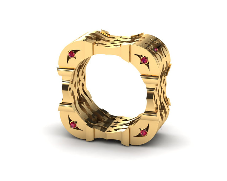LUZ Anger | Men's ring in 18k yellow gold - Luz By Houman