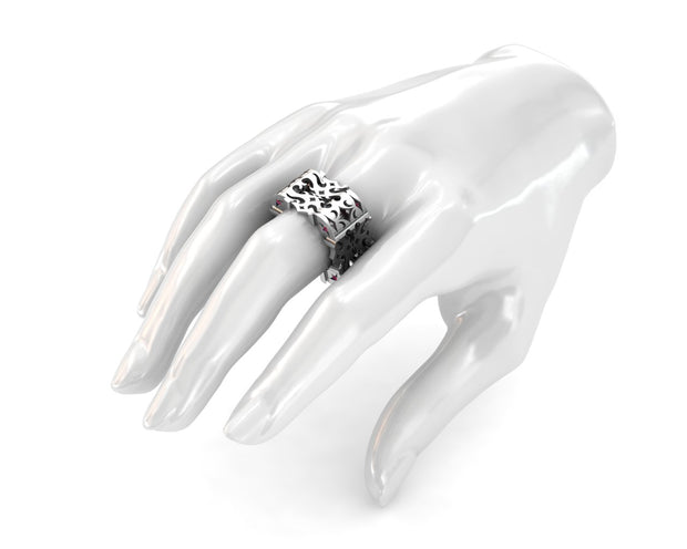 LUZ Anger | Men's ring in sterling silver - Luz By Houman