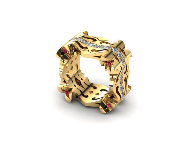 LUZ Breakup | Men's ring in 18k yellow gold - Luz By Houman