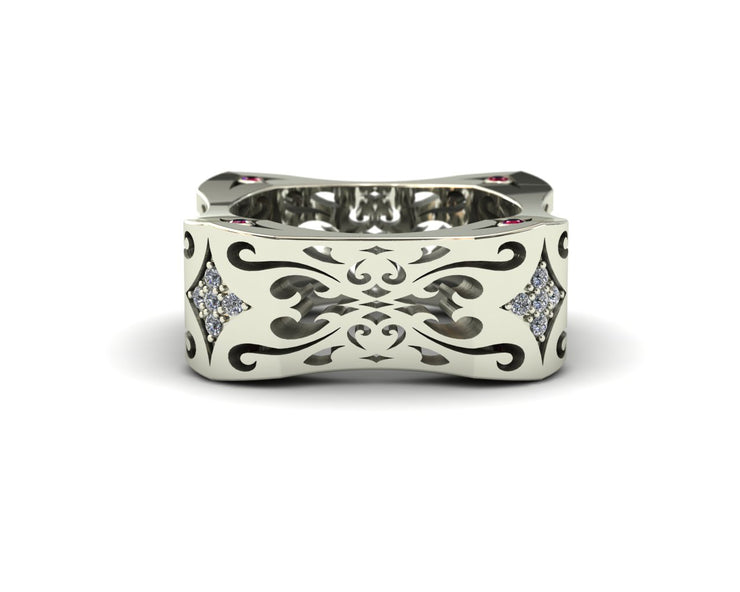 LUZ Flirt | Men's ring in 18k white gold - Luz By Houman