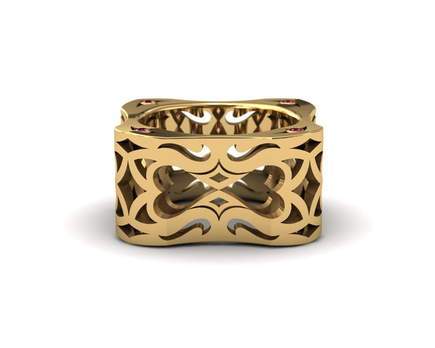 LUZ Love | Men's ring in 18k yellow gold - Luz By Houman