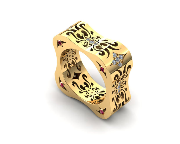 LUZ Lust | Men's ring in 18k yellow gold - Luz By Houman