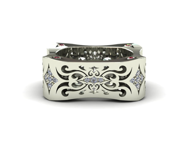 LUZ Lust | Women's ring in 18k white gold - Luz By Houman