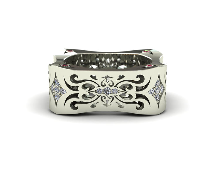 LUZ Lust | Men's ring in 18k white gold - Luz By Houman
